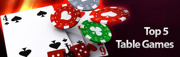Top Five Table Games at Cool Cat Casino