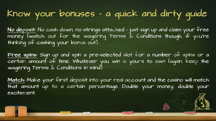 Online casino bonuses - a quick and dirty guide