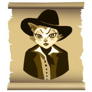 Female wild west casino games player