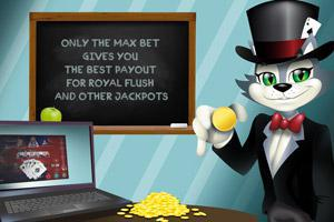 Video poker tips – Bet max coins
