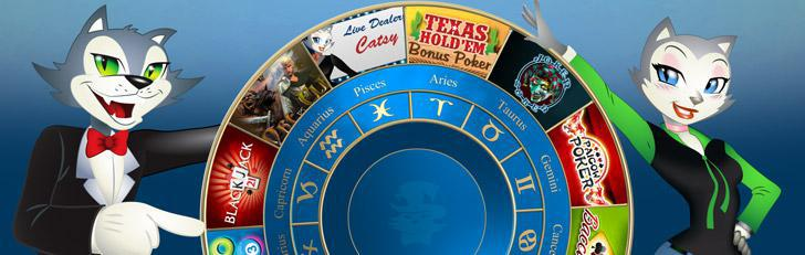 Zodiac sign games list compiled by CoolCat Online Casino