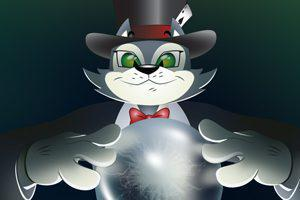 CoolCat-tries-to-predict-future-from-a-crystal-ball