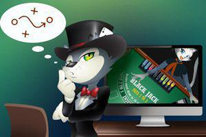 An Illustration of Cool-Cat thinks about Blackjack